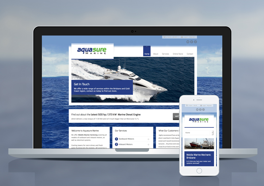 Aquasure Marine Website